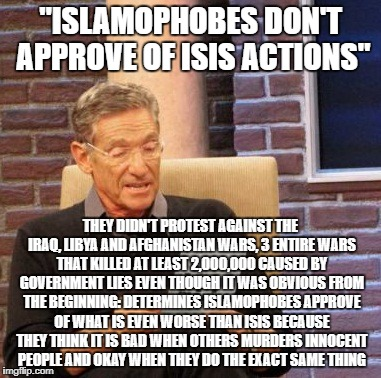 "The Next Time Someone Says ""Islamophobes Don't Approve Of ISIS Actions"" 