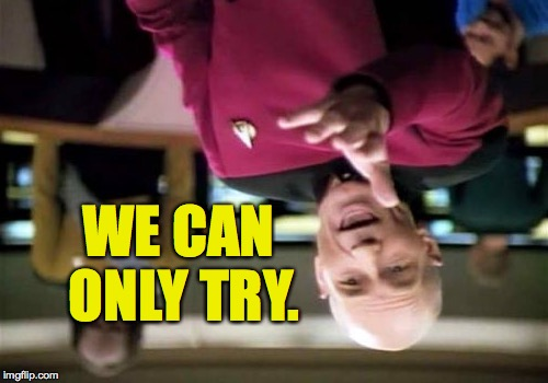 Picard Wtf Meme | WE CAN ONLY TRY. | image tagged in memes,picard wtf | made w/ Imgflip meme maker