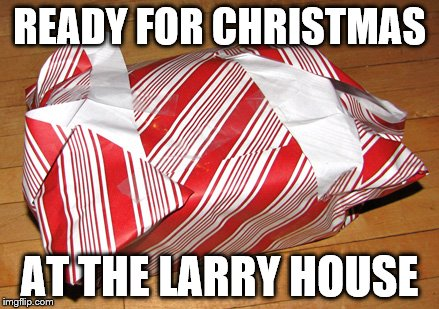 Not too bad, if I say so myself | READY FOR CHRISTMAS AT THE LARRY HOUSE | image tagged in christmas,christmas presents,merry christmas | made w/ Imgflip meme maker