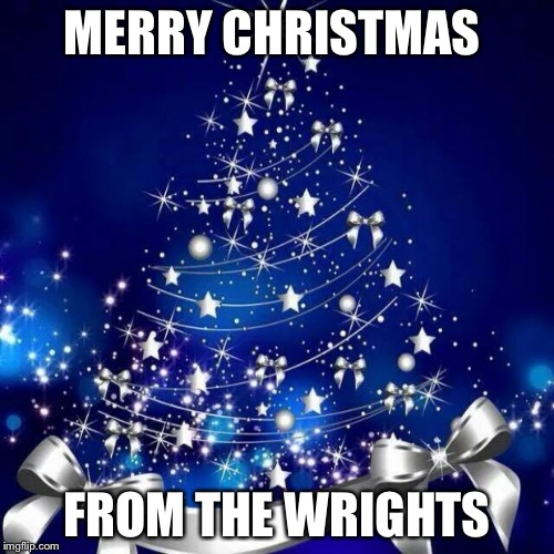 Merry Christmas  | MERRY CHRISTMAS FROM THE WRIGHTS | image tagged in merry christmas | made w/ Imgflip meme maker