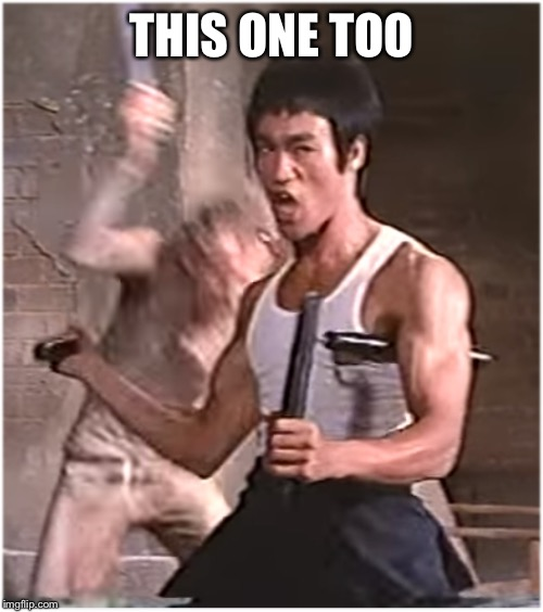 Bruce Lee | THIS ONE TOO | image tagged in bruce lee | made w/ Imgflip meme maker
