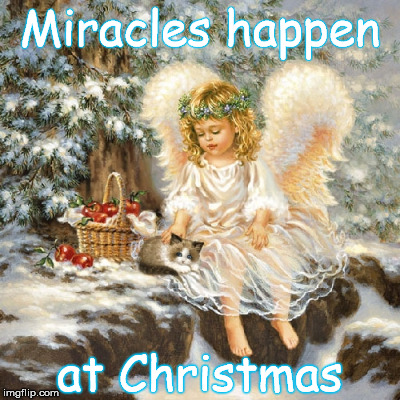 Miracles happen at Christmas | made w/ Imgflip meme maker