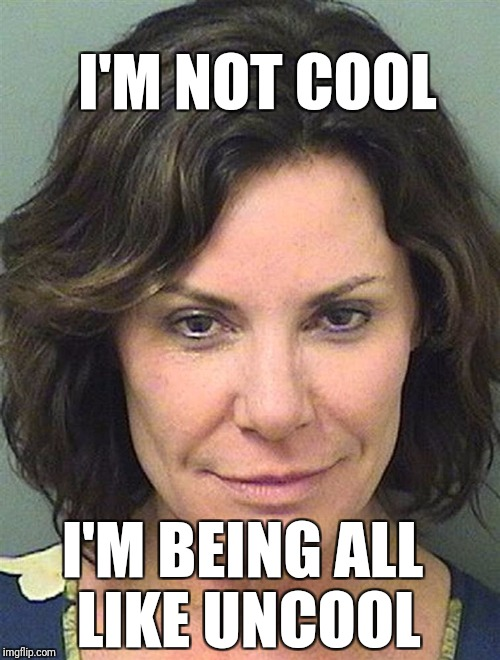 I'M NOT COOL I'M BEING ALL LIKE UNCOOL | image tagged in real housewives | made w/ Imgflip meme maker