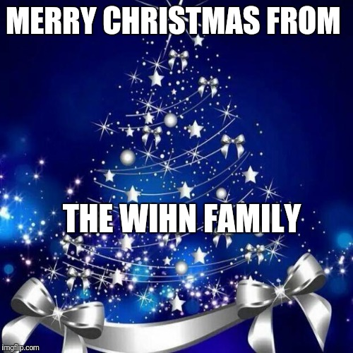 Merry Christmas  | MERRY CHRISTMAS FROM THE WIHN FAMILY | image tagged in merry christmas | made w/ Imgflip meme maker
