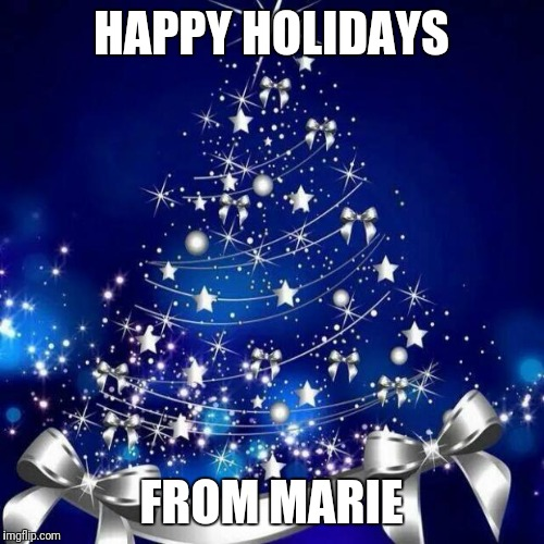 Merry Christmas  | HAPPY HOLIDAYS FROM MARIE | image tagged in merry christmas | made w/ Imgflip meme maker