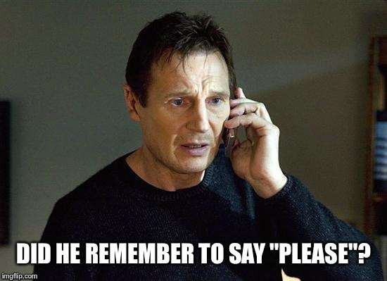 "DID HE REMEMBER TO SAY ""PLEASE""? 