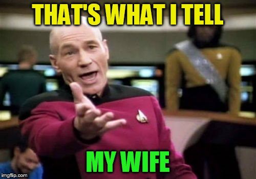 Picard Wtf Meme | THAT'S WHAT I TELL MY WIFE | image tagged in memes,picard wtf | made w/ Imgflip meme maker