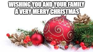 Christmas Ornament | WISHING YOU AND YOUR FAMILY A VERY MERRY CHRISTMAS | image tagged in christmas ornament | made w/ Imgflip meme maker
