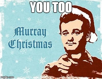 murray christmas | YOU TOO | image tagged in murray christmas | made w/ Imgflip meme maker