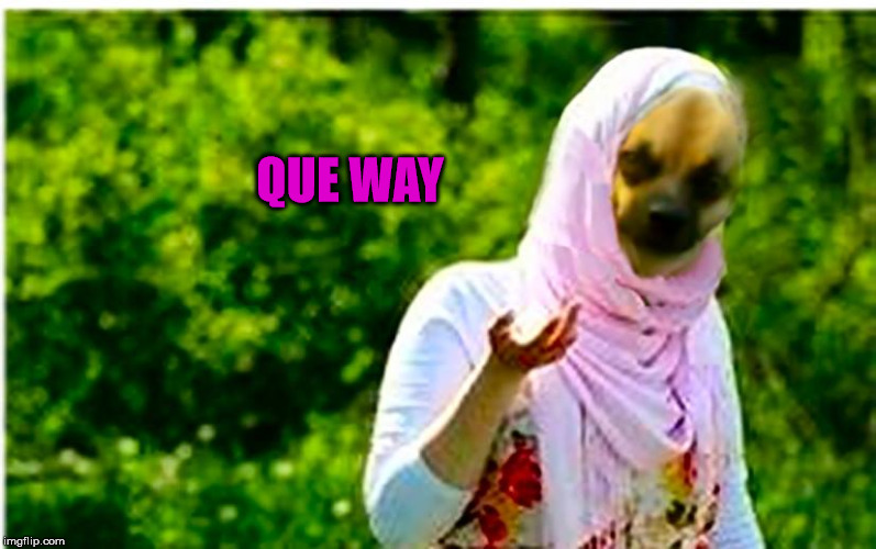 QUE WAY | image tagged in arabey dinkey | made w/ Imgflip meme maker
