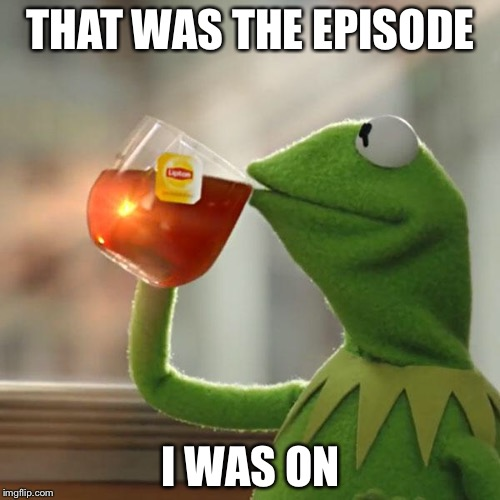 But Thats None Of My Business Meme | THAT WAS THE EPISODE I WAS ON | image tagged in memes,but thats none of my business,kermit the frog | made w/ Imgflip meme maker
