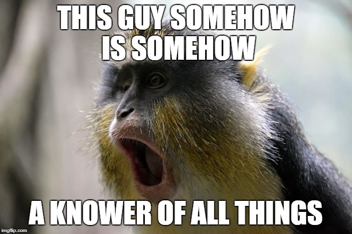 THIS GUY SOMEHOW IS SOMEHOW A KNOWER OF ALL THINGS | made w/ Imgflip meme maker
