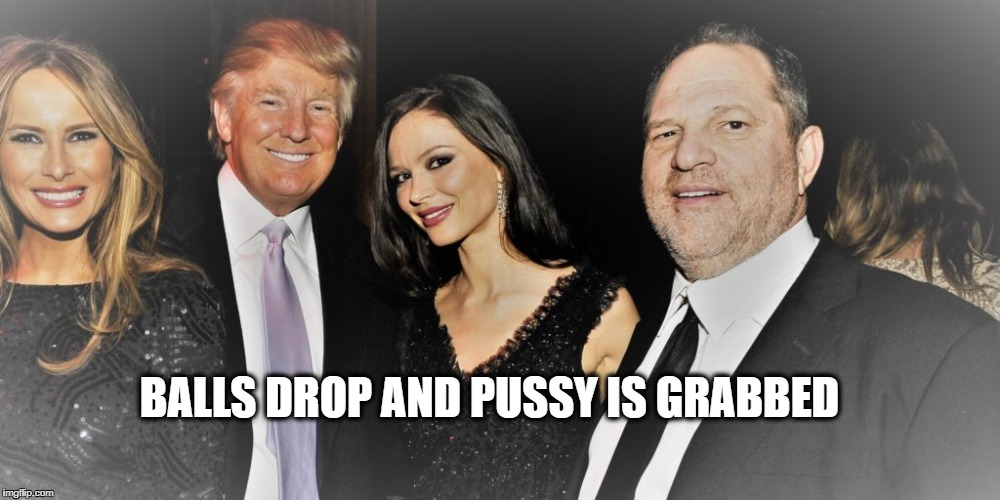 Trumpstien | BALLS DROP AND PUSSY IS GRABBED | image tagged in trumpstien | made w/ Imgflip meme maker