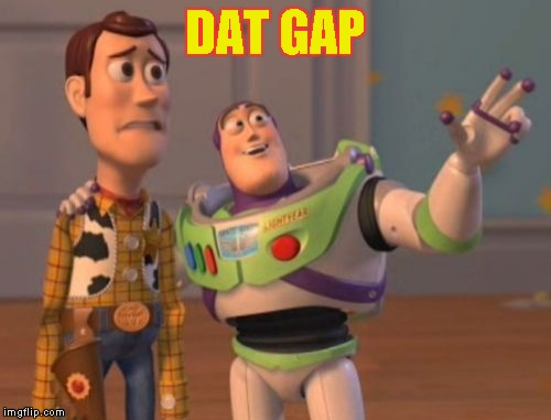 X, X Everywhere Meme | DAT GAP | image tagged in memes,x,x everywhere,x x everywhere | made w/ Imgflip meme maker