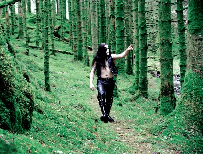 black metal dude in forest blank template imgflip