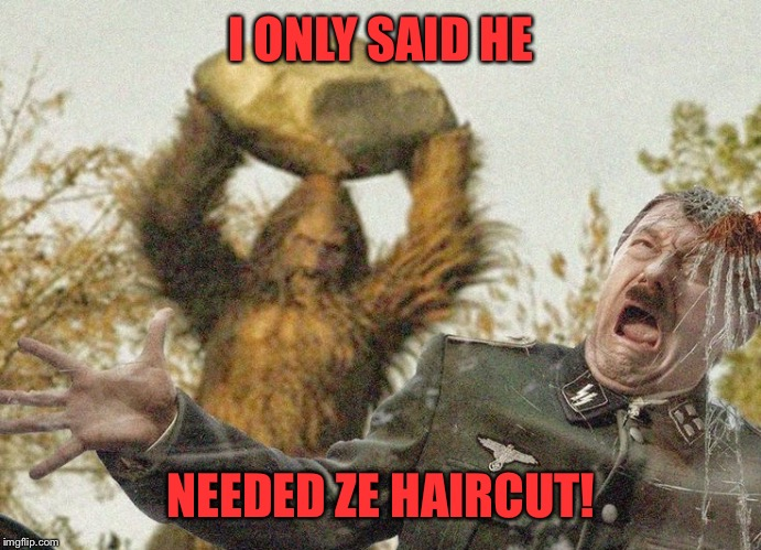 I ONLY SAID HE NEEDED ZE HAIRCUT! | made w/ Imgflip meme maker