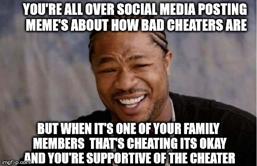 Hypocrites! When Cheating Is Okay