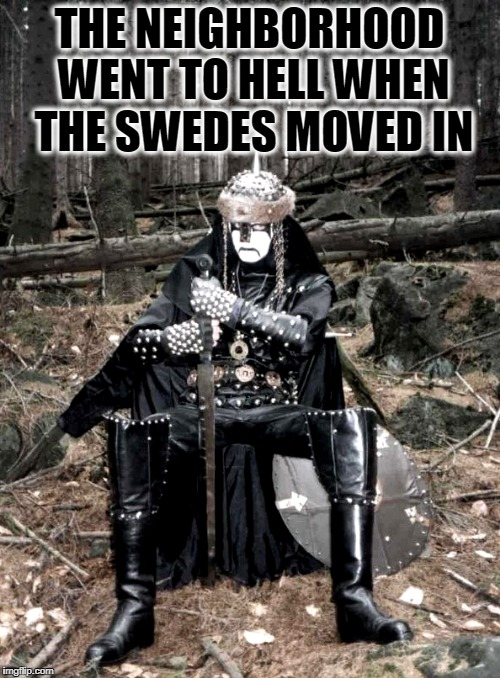 THE NEIGHBORHOOD WENT TO HELL WHEN THE SWEDES MOVED IN | made w/ Imgflip meme maker