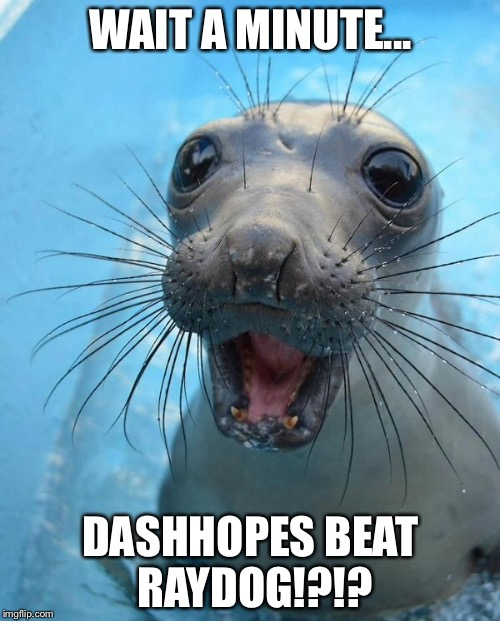 WAIT A MINUTE... DASHHOPES BEAT RAYDOG!?!? | made w/ Imgflip meme maker