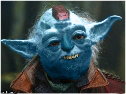 Its The Great Yonda | image tagged in star wars yoda,guardians of the galaxy,yondu,together finally | made w/ Imgflip meme maker