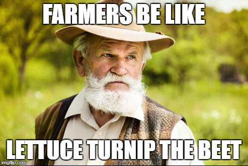 FARMERS BE LIKE LETTUCE TURNIP THE BEET | made w/ Imgflip meme maker