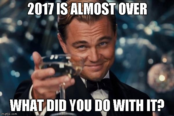 Leonardo Dicaprio Cheers Meme | 2017 IS ALMOST OVER WHAT DID YOU DO WITH IT? | image tagged in memes,leonardo dicaprio cheers | made w/ Imgflip meme maker
