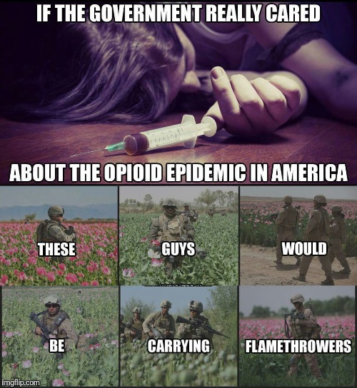 90% of all Opium comes from Afghanistan | . | image tagged in heroin,drugs | made w/ Imgflip meme maker