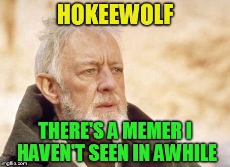 HOKEEWOLF THERE'S A MEMER I HAVEN'T SEEN IN AWHILE | made w/ Imgflip meme maker