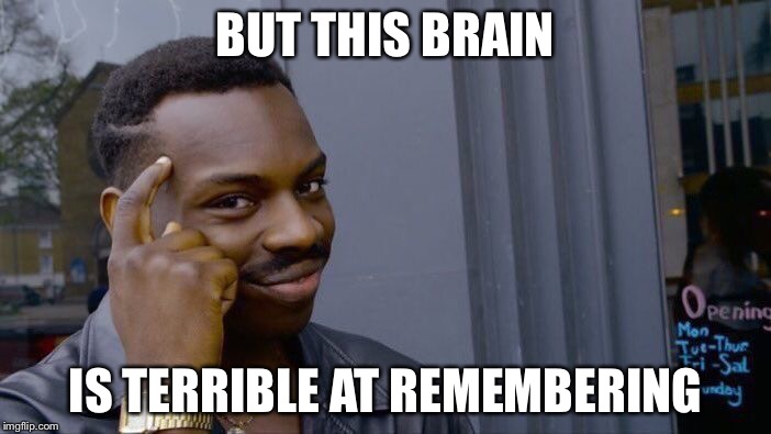 Roll Safe Think About It Meme | BUT THIS BRAIN IS TERRIBLE AT REMEMBERING | image tagged in memes,roll safe think about it | made w/ Imgflip meme maker
