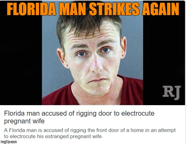 The Continuing Adventures of Florida Man | FLORIDA MAN STRIKES AGAIN | image tagged in florida,meanwhile in florida,florida man | made w/ Imgflip meme maker