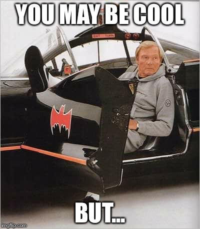 Like A BatBoss! | YOU MAY BE COOL BUT... | image tagged in batman bitch slap | made w/ Imgflip meme maker