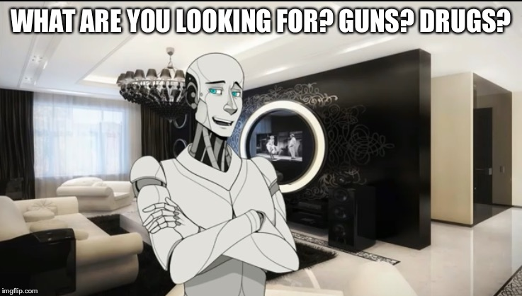 WHAT ARE YOU LOOKING FOR? GUNS? DRUGS? | made w/ Imgflip meme maker