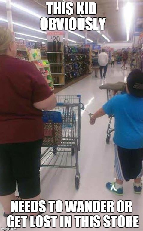 This kid obviously needs to wander or get lost in this store | THIS KID OBVIOUSLY NEEDS TO WANDER OR GET LOST IN THIS STORE | image tagged in funny,funny memes,fat kid,walmart,people of walmart | made w/ Imgflip meme maker