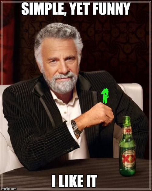 The Most Interesting Man In The World Meme | SIMPLE, YET FUNNY I LIKE IT | image tagged in memes,the most interesting man in the world | made w/ Imgflip meme maker