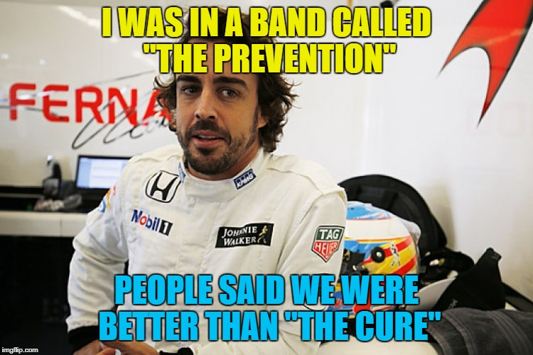 "I WAS IN A BAND CALLED ""THE PREVENTION"" PEOPLE SAID WE WERE BETTER THAN ""THE CURE"" 
