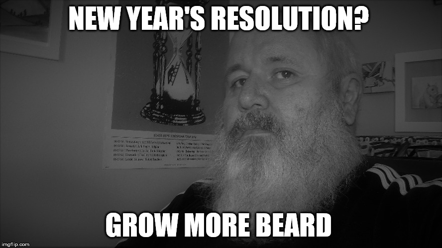 Grow More Beard  | NEW YEAR'S RESOLUTION? GROW MORE BEARD | image tagged in beard,new year's resolution | made w/ Imgflip meme maker