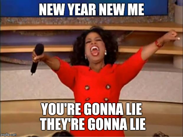 Oprah You Get A Meme | NEW YEAR NEW ME YOU'RE GONNA LIE THEY'RE GONNA LIE | image tagged in memes,oprah you get a | made w/ Imgflip meme maker
