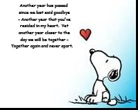 Another year has passed since we last said goodbye - Another year that you've resided in my heart.  Yet another year closer to the day we wi | image tagged in snoopy heart | made w/ Imgflip meme maker