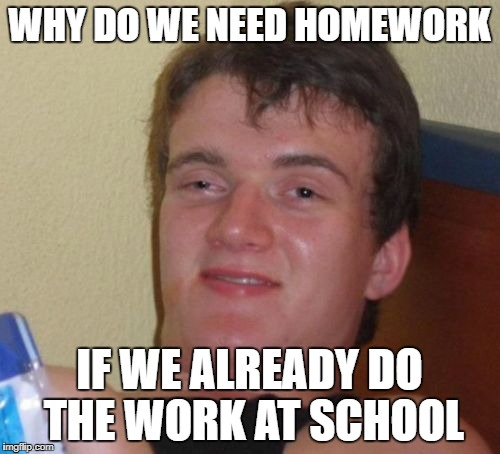 Do we need homework in school
