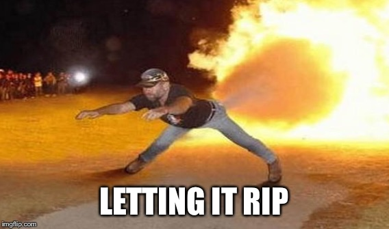 LETTING IT RIP | made w/ Imgflip meme maker