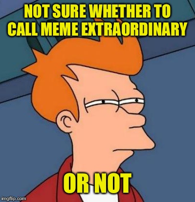 NOT SURE WHETHER TO CALL MEME EXTRAORDINARY OR NOT | made w/ Imgflip meme maker