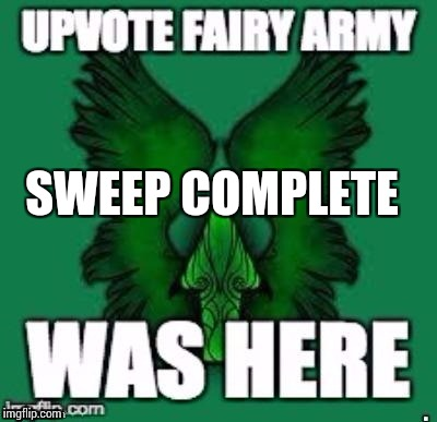 SWEEP COMPLETE | made w/ Imgflip meme maker