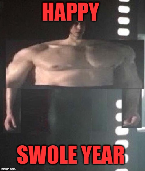 happy swole year | HAPPY SWOLE YEAR | image tagged in star wars,solo,swole,happy new year,new years | made w/ Imgflip meme maker