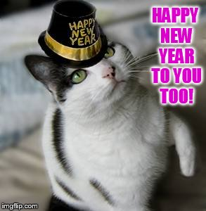 HAPPY NEW YEAR TO YOU TOO! | made w/ Imgflip meme maker