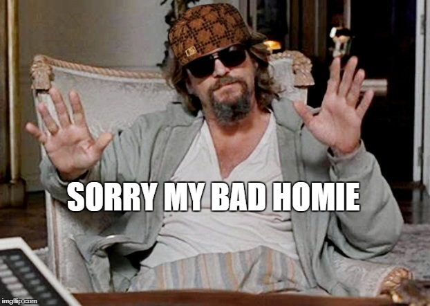 SORRY MY BAD HOMIE | image tagged in my bad dude,scumbag | made w/ Imgflip meme maker