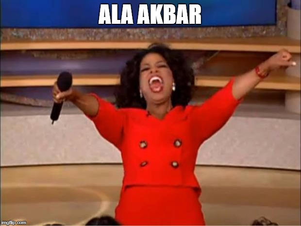 Oprah You Get A Meme | ALA AKBAR | image tagged in memes,oprah you get a | made w/ Imgflip meme maker
