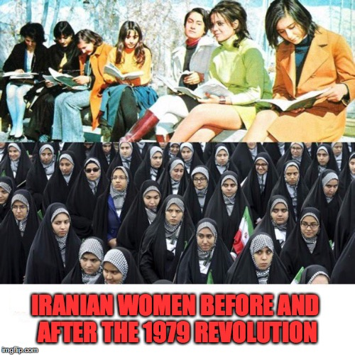 All They Want Is Freedom | IRANIAN WOMEN BEFORE AND AFTER THE 1979 REVOLUTION | image tagged in islamic state,political revolution,hope and change | made w/ Imgflip meme maker