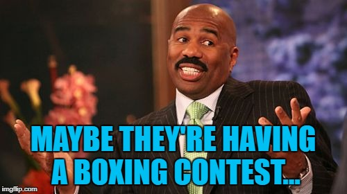 MAYBE THEY'RE HAVING A BOXING CONTEST... | made w/ Imgflip meme maker