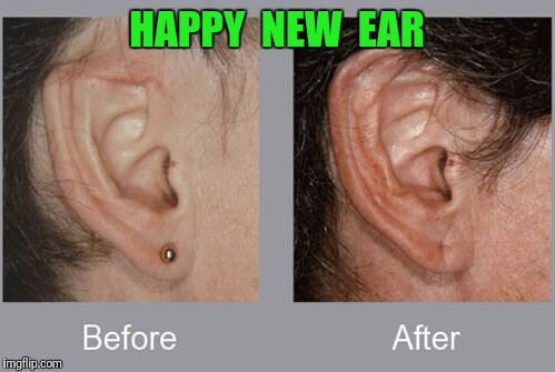 2018 is gonna be awesome | HAPPY  NEW  EAR | image tagged in happy new year | made w/ Imgflip meme maker
