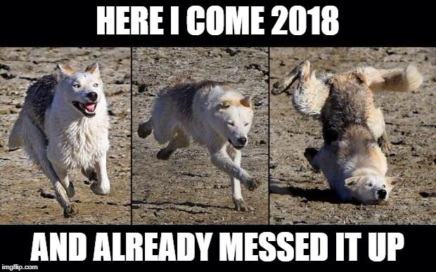 Moon Moon | HERE I COME 2018 AND ALREADY MESSED IT UP | image tagged in moon moon | made w/ Imgflip meme maker